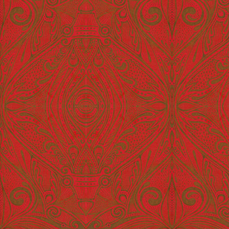 Alecto - Red fabric by siya on Spoonflower - custom fabric