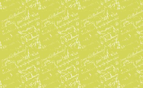 Sarah Green French script fabric by karenharveycox on Spoonflower - custom fabric