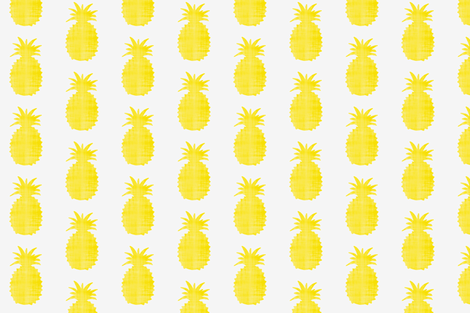 Golden pineapples fabric by ninaribena on Spoonflower - custom fabric