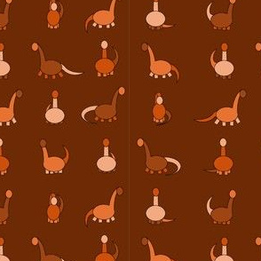 orange dinosaurs