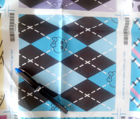Monster High - Blue rhombus (argyle)