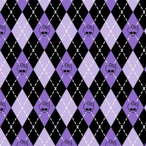 Monster High - Purple rhombus (argyle)