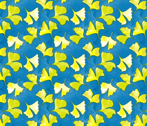 gingko fabric by karinka on Spoonflower - custom fabric