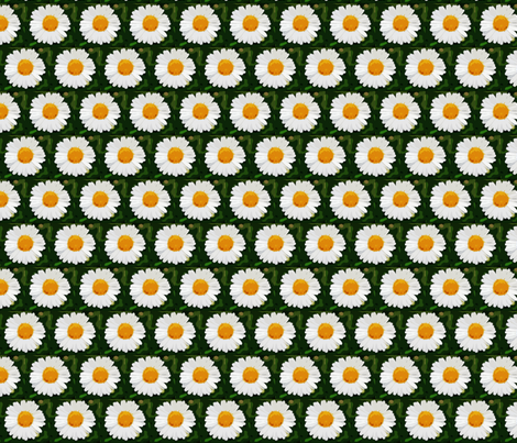 daisies fabric by dogdaze_ on Spoonflower - custom fabric