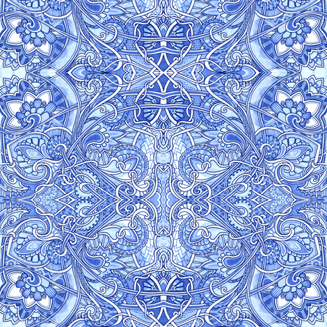 Then the Blue Fairy Smacked Me with Her Wand fabric by edsel2084 on Spoonflower - custom fabric