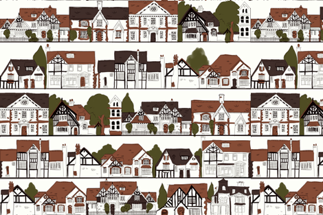 In Every Dream Home a Heartache fabric by artytypes on Spoonflower - custom fabric