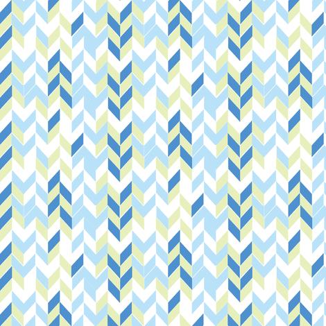 Blue arrows fabric by artytypes on Spoonflower - custom fabric