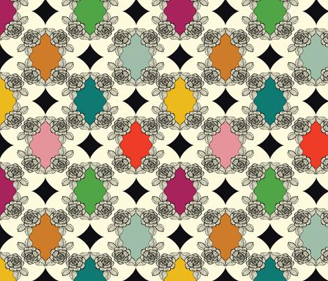 Moroccan Rose Motif fabric by michellenilson on Spoonflower - custom fabric