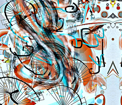 cycling with white background fabric by ann-dee on Spoonflower - custom fabric