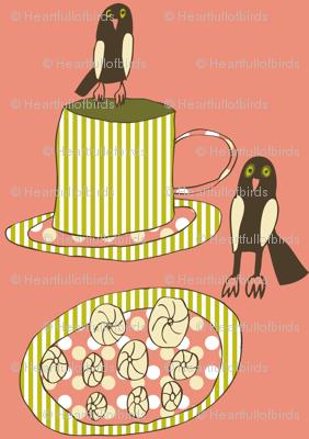 Little Owls Drinking Tea