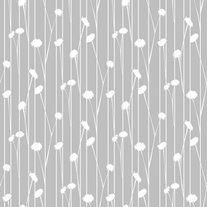 Pom Flower Stems Gray