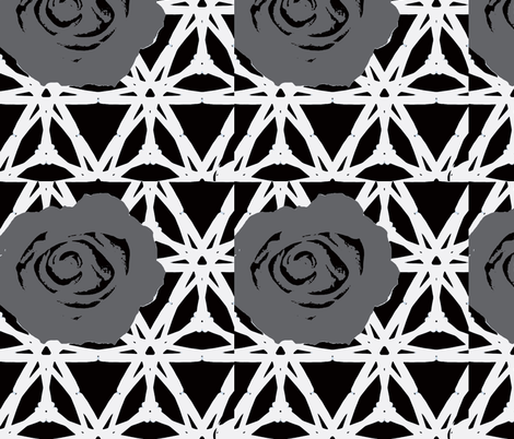 black and white and gray fabric by ann-dee on Spoonflower - custom fabric