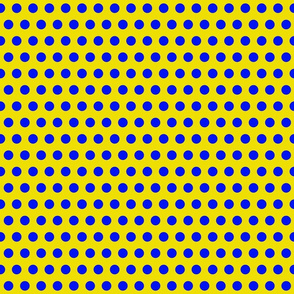 Sailor Polka Dot Blue on Yellow