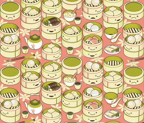 The World of Dim Sum fabric by mlahero on Spoonflower - custom fabric