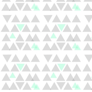 Gray and Mint Triangle Dance