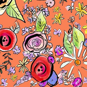 In The Garden Floral // Persimmon