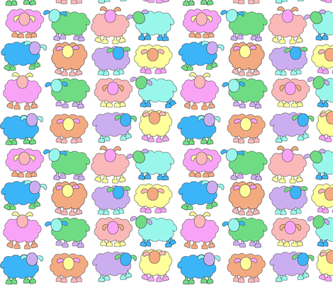 pastel sheeps fabric by engelbam on Spoonflower - custom fabric
