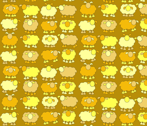 yellow sheeps fabric by amyknits on Spoonflower - custom fabric