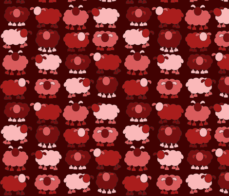 red sheeps fabric by engelbam on Spoonflower - custom fabric