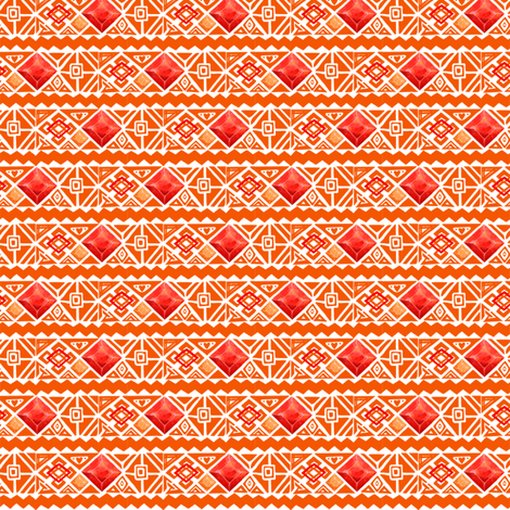 Geo Desert fabric by rose'n'thorn on Spoonflower - custom fabric