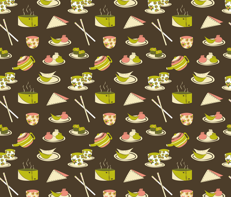 Dim Sum fabric by fabricdrawer on Spoonflower - custom fabric
