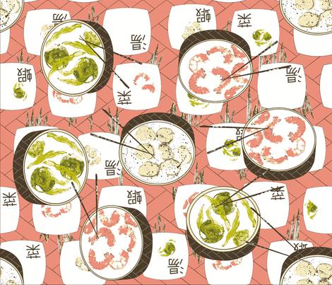 dim_sum_shrimp__n_grits_nc-ch fabric by cinthr on Spoonflower - custom fabric