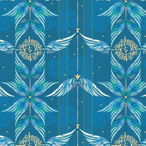 Seamless pattern with wings
