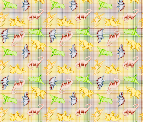 Dino Plaid fabric by evenspor on Spoonflower - custom fabric