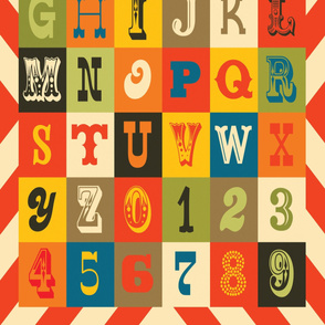 Alphabet Cheater Quilt
