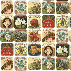 Vintage Flower Labels