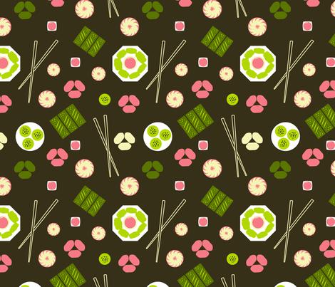 Dim Sum Brown fabric by vinpauld on Spoonflower - custom fabric