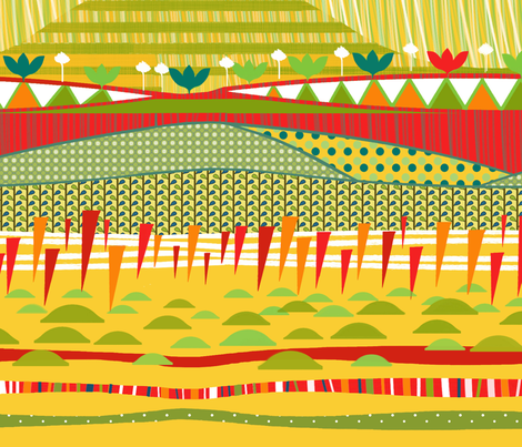 Dinos collection / Landscape fabric by mariskadesign on Spoonflower - custom fabric