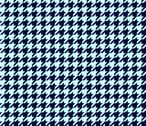 Classic Houndstooth Check in Navy + Mint fabric by theartwerks on Spoonflower - custom fabric
