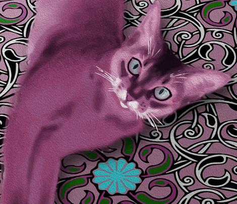 Pink Cat (Quilt)