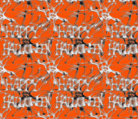 Happy Halloween Spider Web Charm Square fabric by peacoquettedesigns on Spoonflower - custom fabric