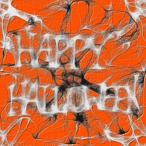 Happy Halloween Spider Web Charm Square