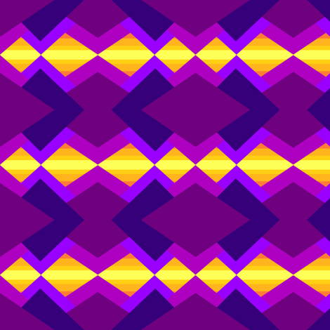 Purples and yellow tribal  fabric by daniellereneefalk on Spoonflower - custom fabric