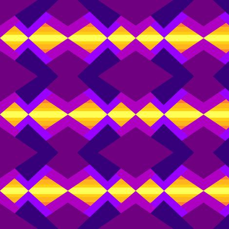 Purples and yellow tribal  fabric by daniellereneefalk on Spoonflower - custom fabric