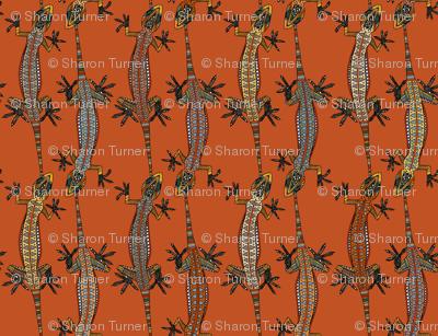 gecko stripe orange
