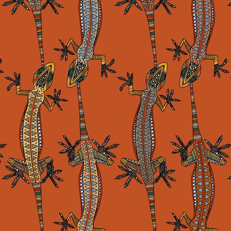 gecko stripe orange fabric by scrummy on Spoonflower - custom fabric