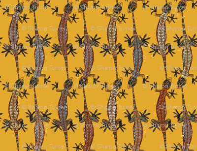gecko stripe gold