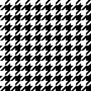 Houndstooth Check // Black & White ((Small))