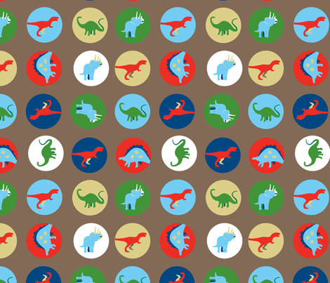 Dino Disks fabric by kimnyc on Spoonflower - custom fabric