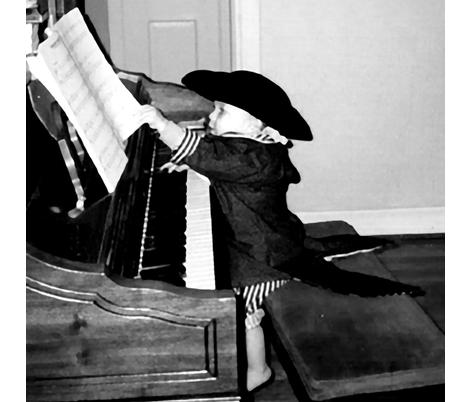 Mozart had to start somewhere fabric by glimmericks on Spoonflower - custom fabric