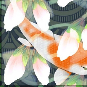 waterlily koi pond large