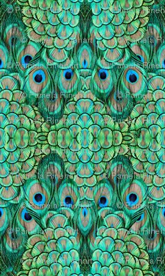 peacock - 3 large