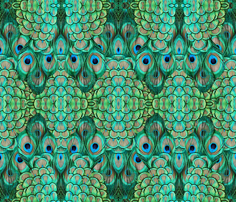 peacock - 3 large fabric by glimmericks on Spoonflower - custom fabric