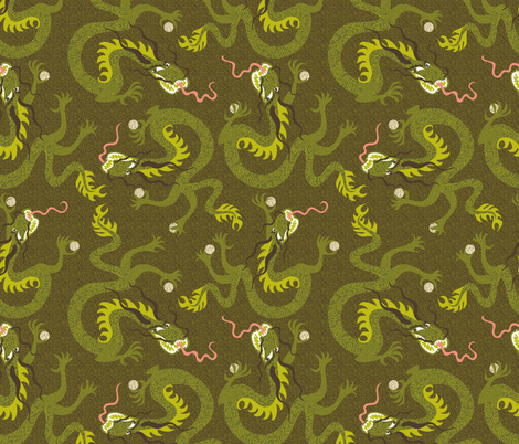 I'm a dragon unless I've got my dim sum fabric by vo_aka_virginiao on Spoonflower - custom fabric