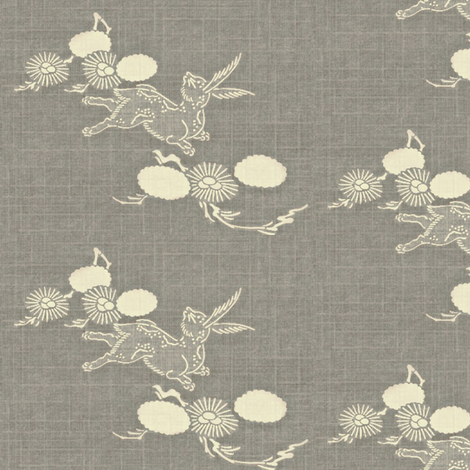 Woodland Hare - gray, white fabric by materialsgirl on Spoonflower - custom fabric