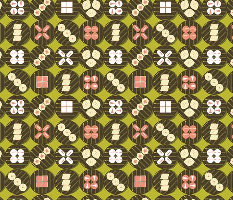 Lime Dim Sum fabric by ohgnomegirl on Spoonflower - custom fabric